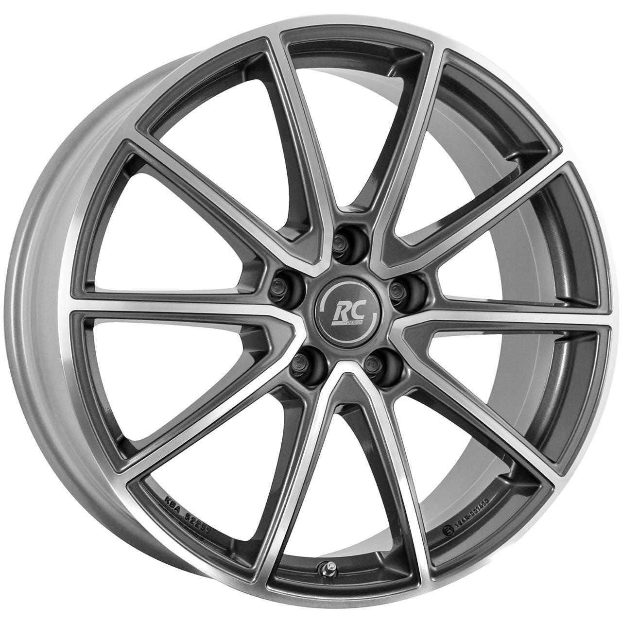 RC Design Rc32 Himalaya grey voll poliert hgvp 7x18 5x112 ET43