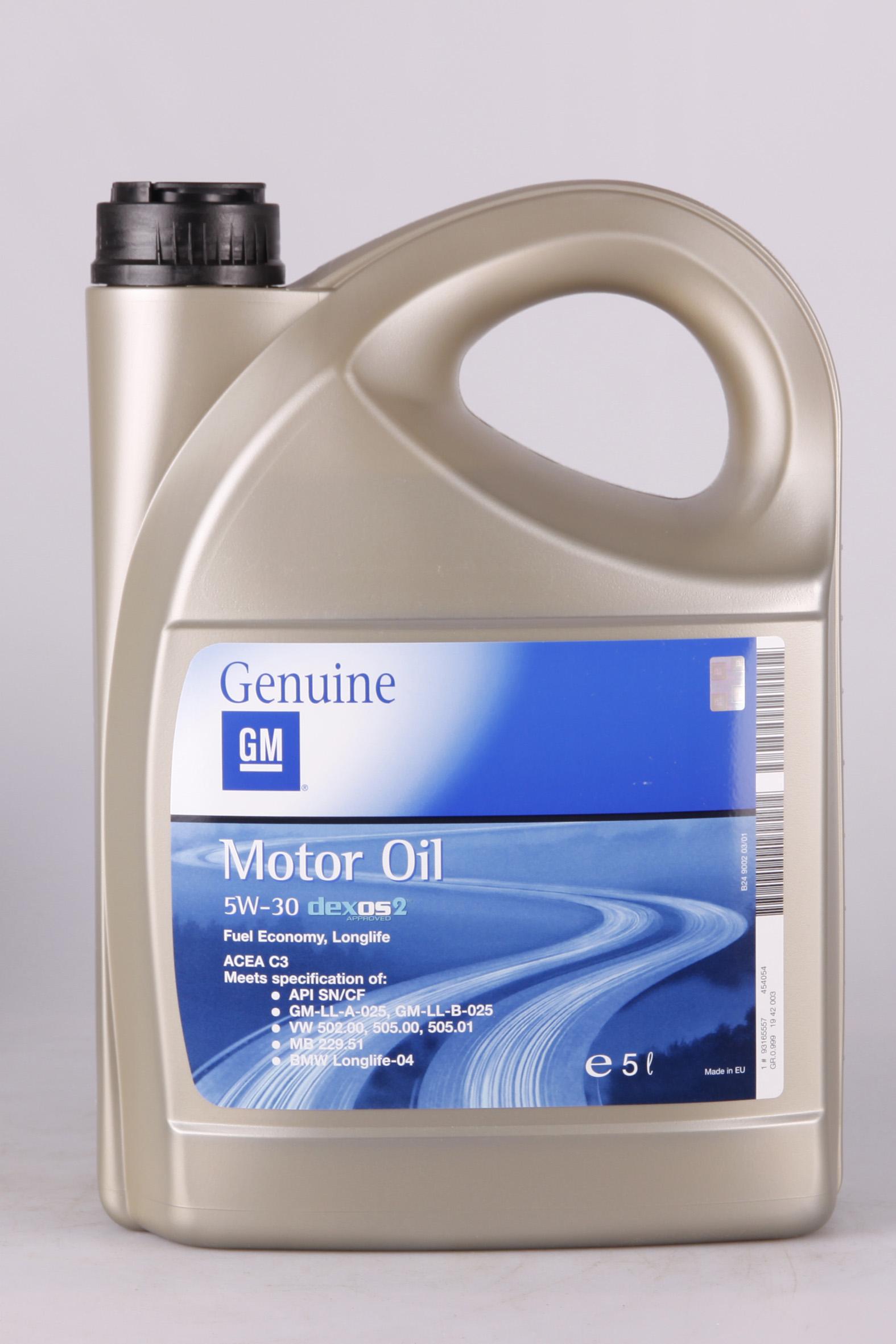 GM Dexos 2 5W-30 5 Liter