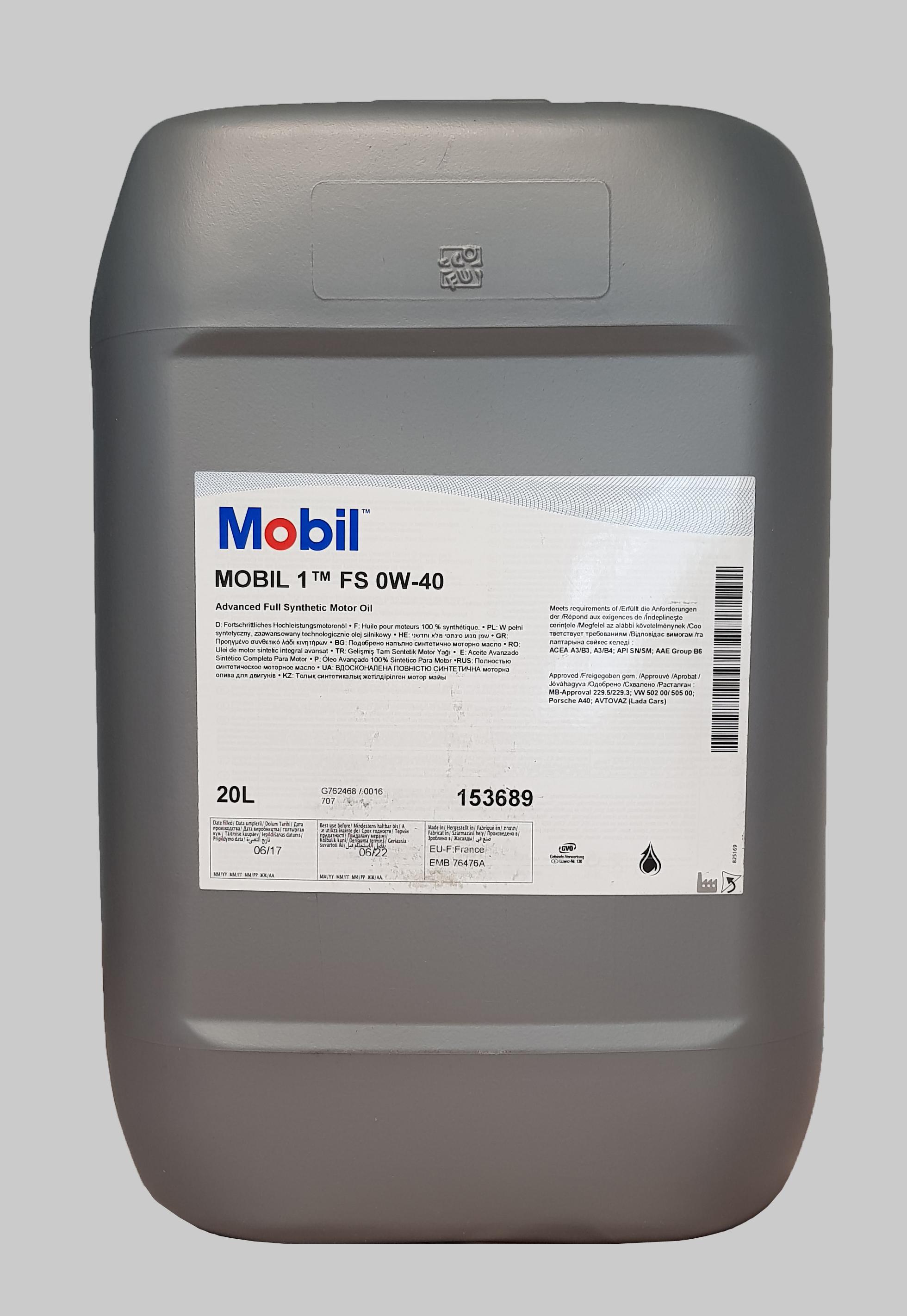 Mobil 1 FS 0W-40 20 Liter