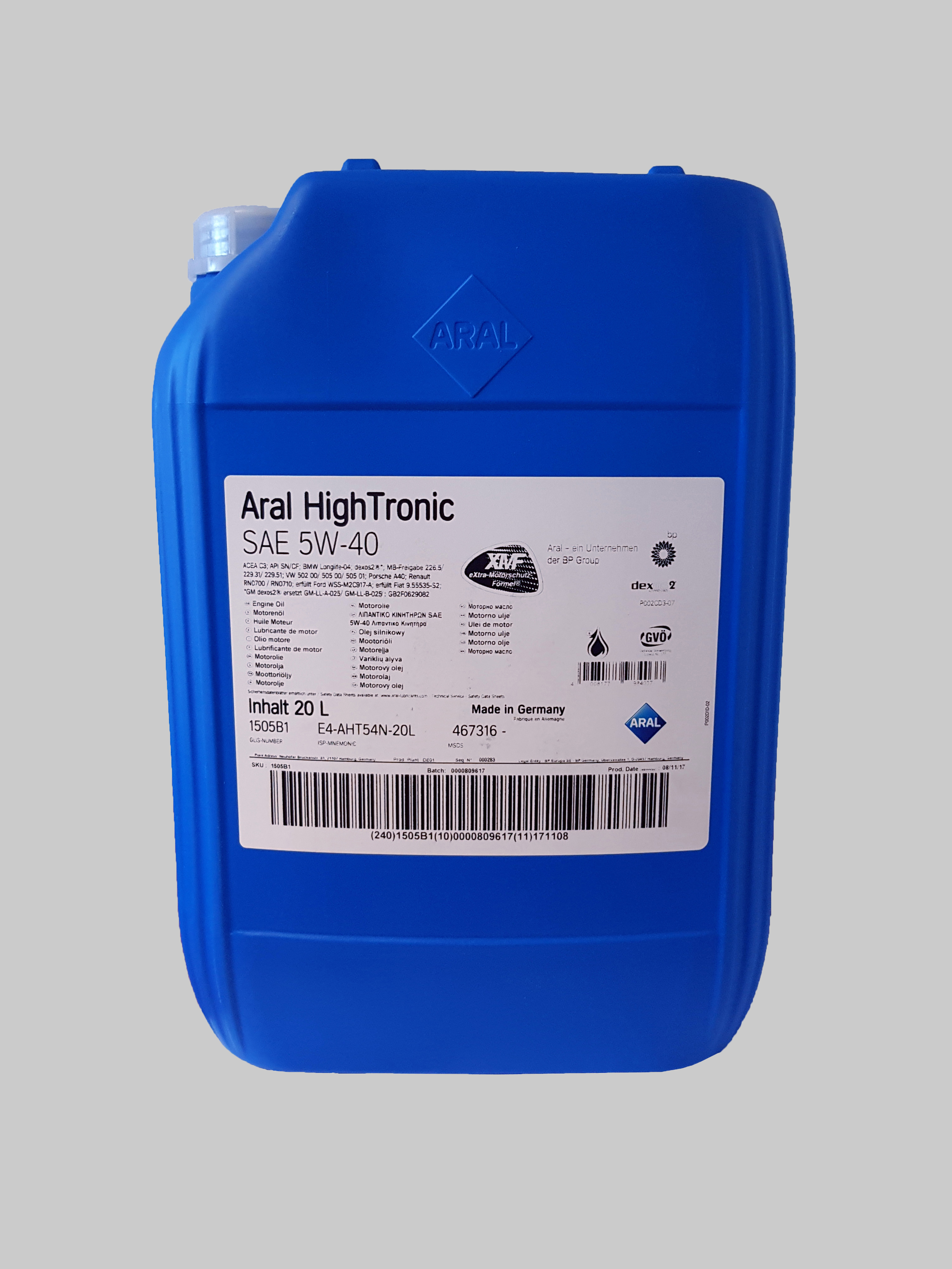 Aral HighTronic 5W-40 20 Liter