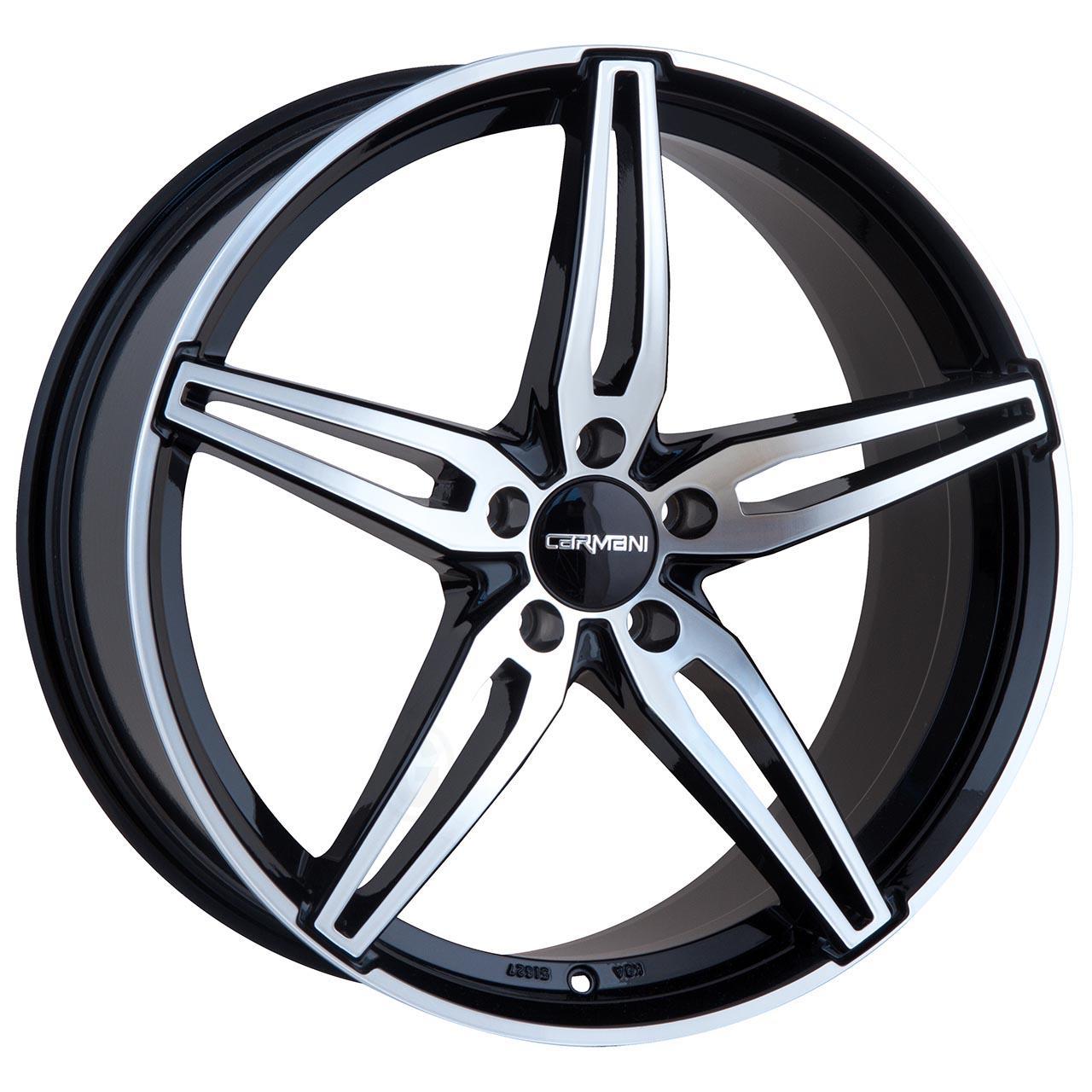 Carmani 15 oskar Black polish 6.5x16 5x105 ET38
