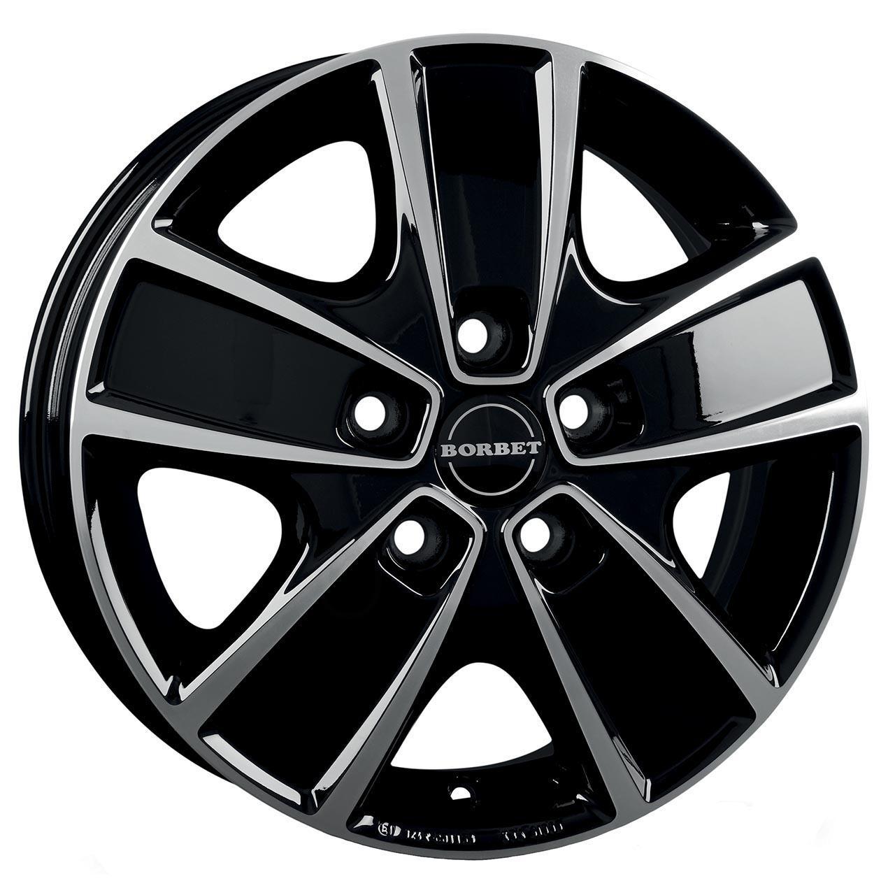 Borbet Cwg Black polished 6x16 5x130 ET68