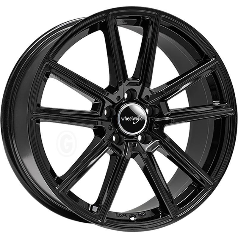 2DRV Wh30 Black glossy painted 8x18 5x112 ET38
