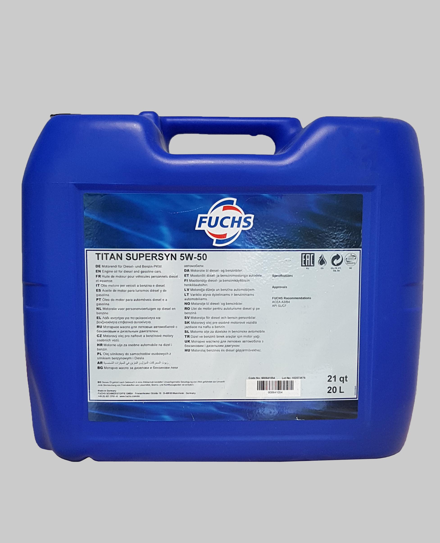 Fuchs Titan Supersyn 5W-50 20 Liter