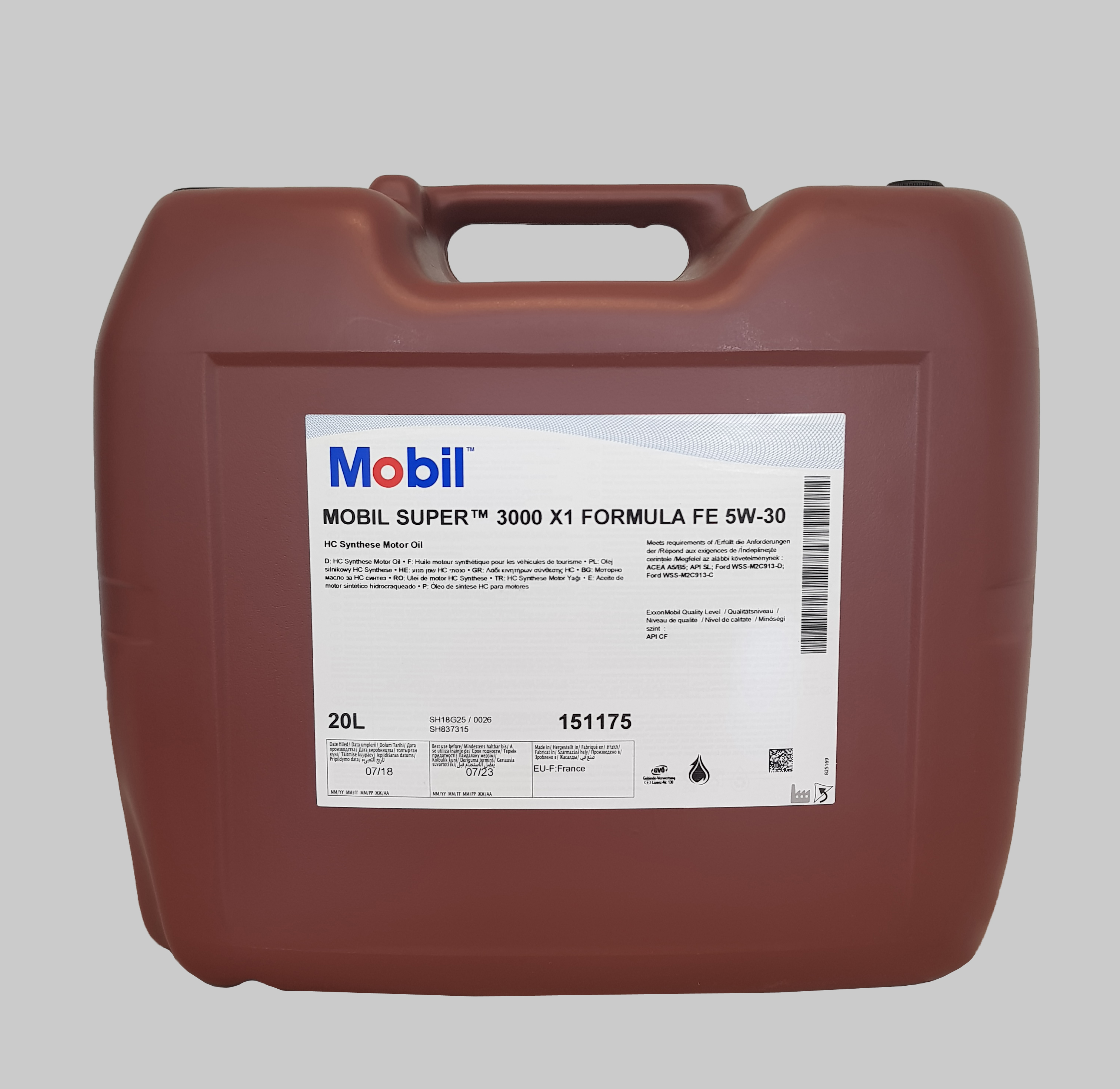 Mobil Super 3000 X1 Formula FE 5W-30 20 Liter