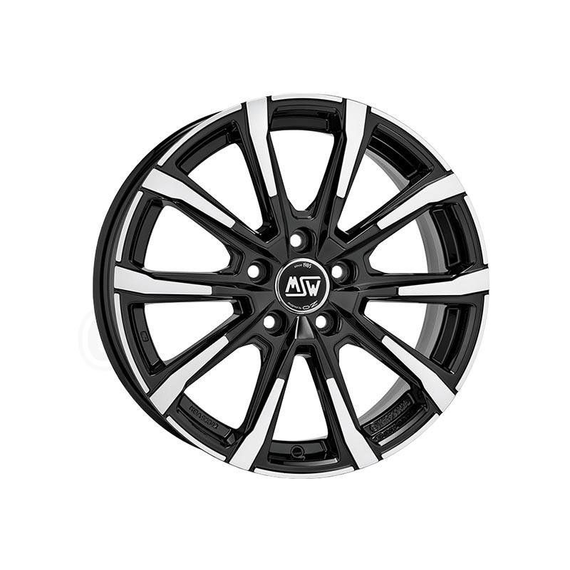 MSW Msw 79 Gloss black full polished 7x17 5x114.3 ET48.5