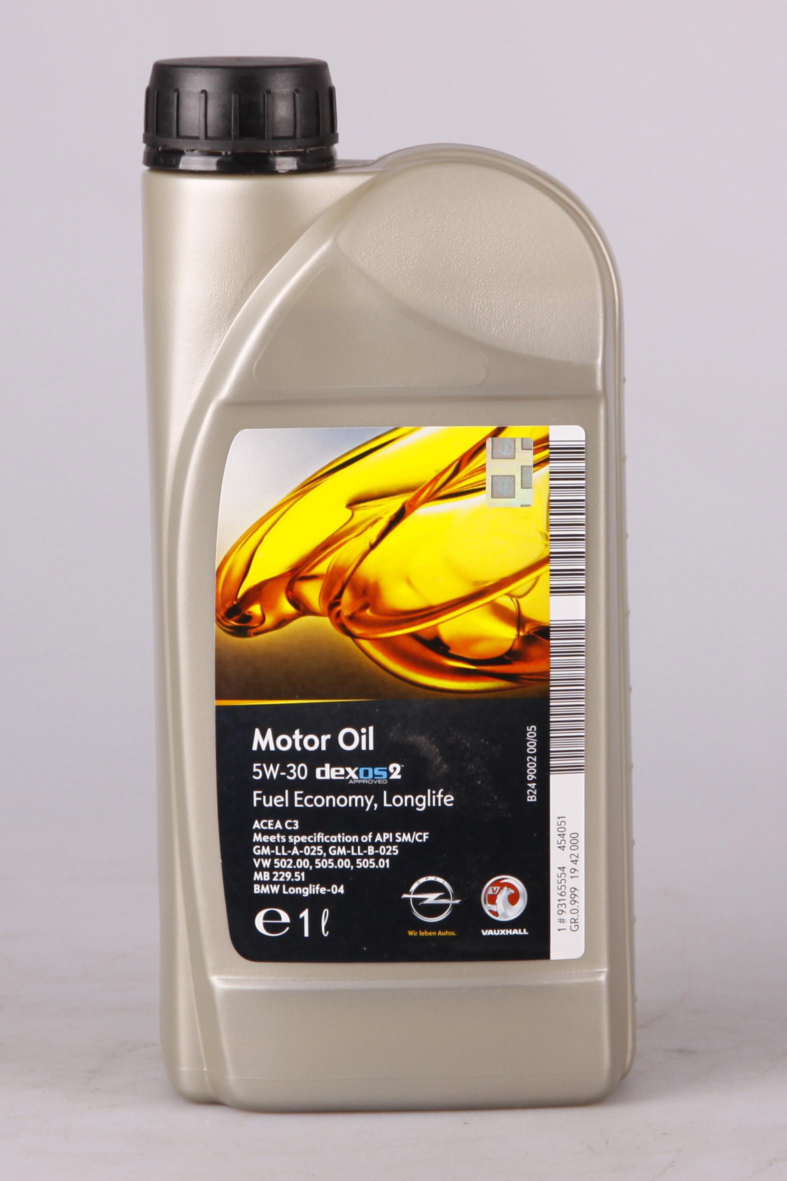 GM Dexos 2 5W-30 1 Liter