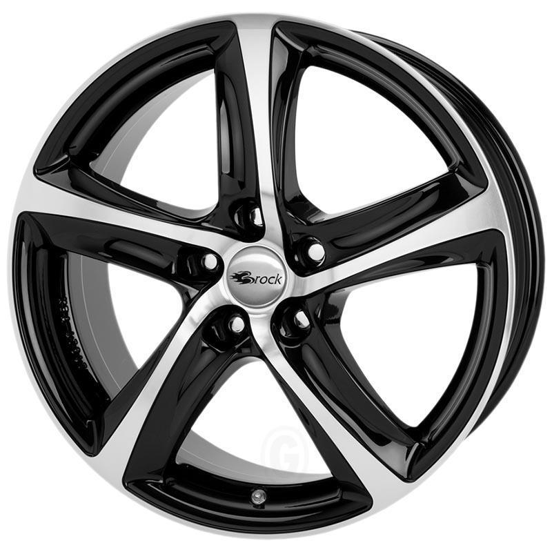Brock B25 Black glossy full polished 8x18 5x112 ET45