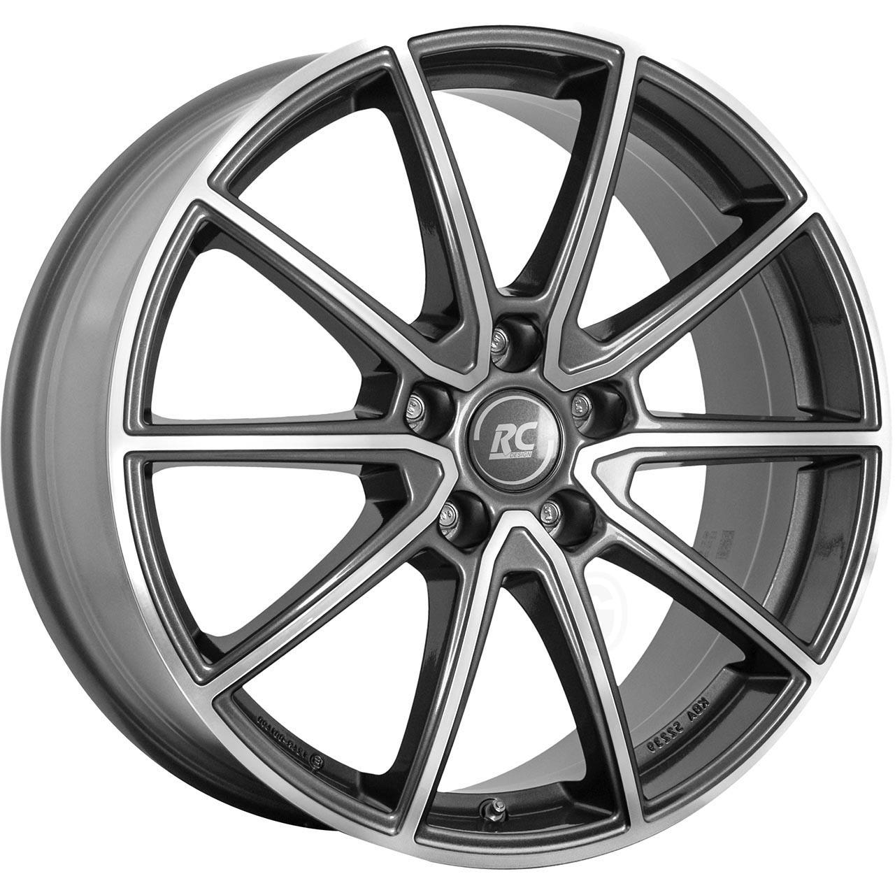 RC Design Rc32 Himalaya grey voll poliert hgvp 8x19 5x112 ET38
