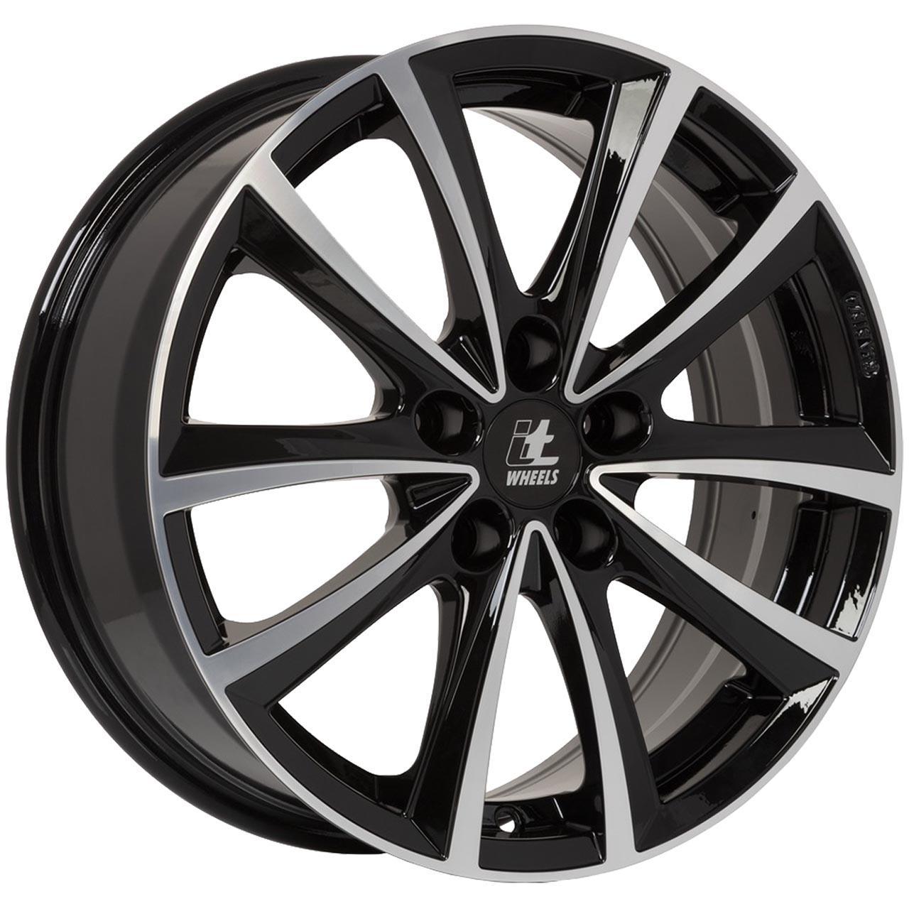 Itwheels Elena Black glossy polished 8x19 5x112 ET30