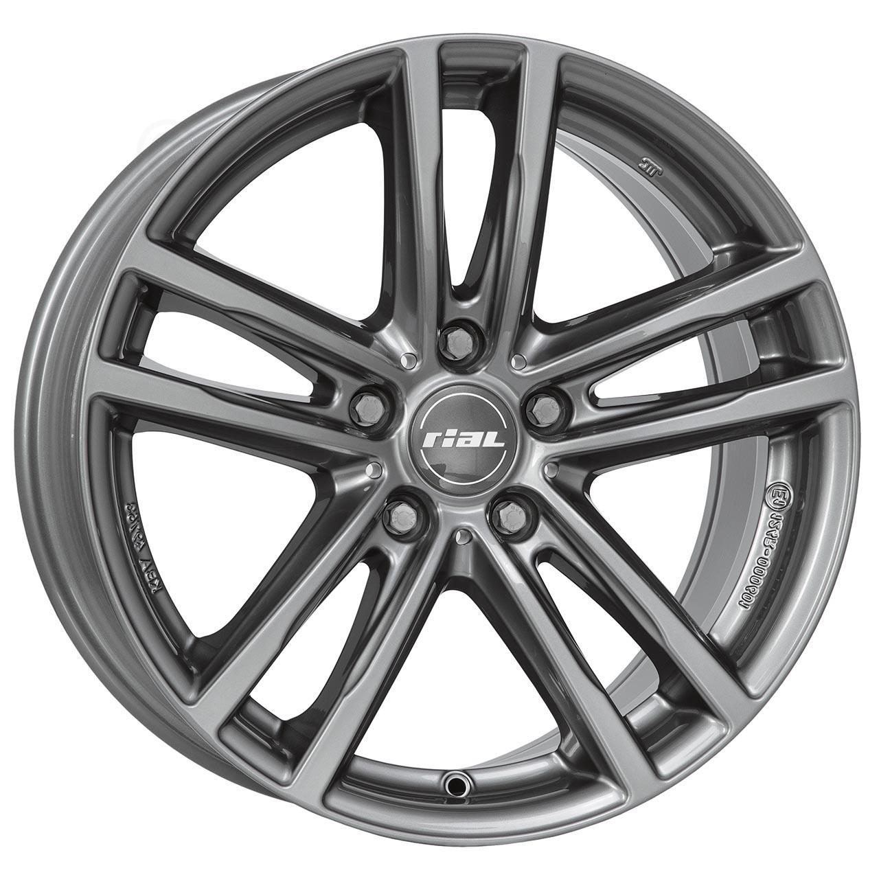 Rial X10 Metal grey 7.5x17 5x112 ET40