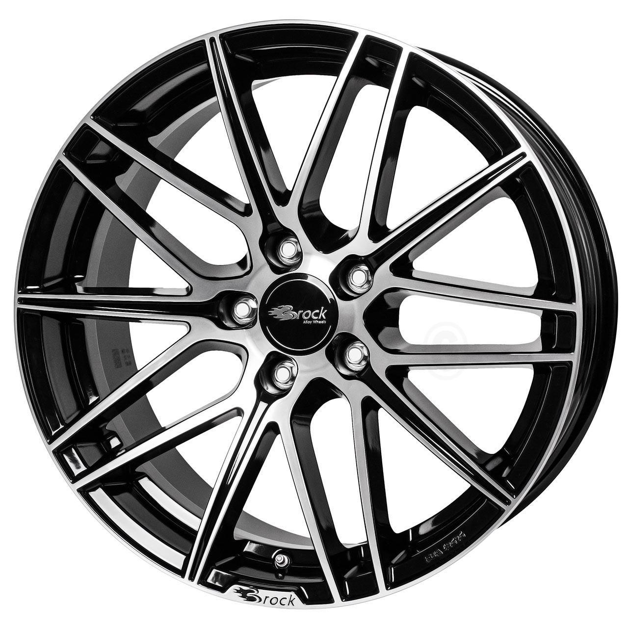 Brock B34 Black glossy full polished 8x18 5x112 ET35