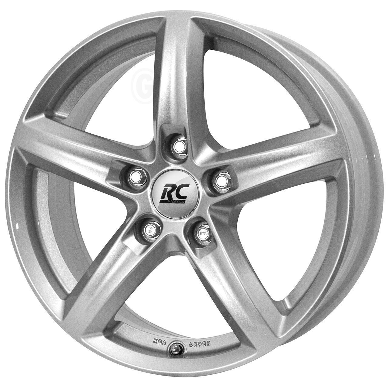 RC Design Rc24 Crystal silver 6.5x16 5x108 ET50