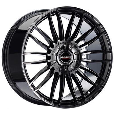 Borbet Cw3 Black glossy 9x20 5x114.3 ET35